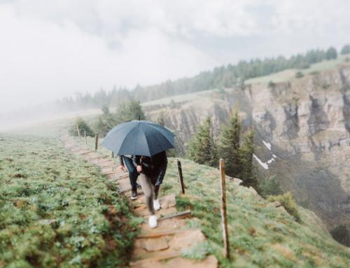 Heiratsantrag in den Bergen