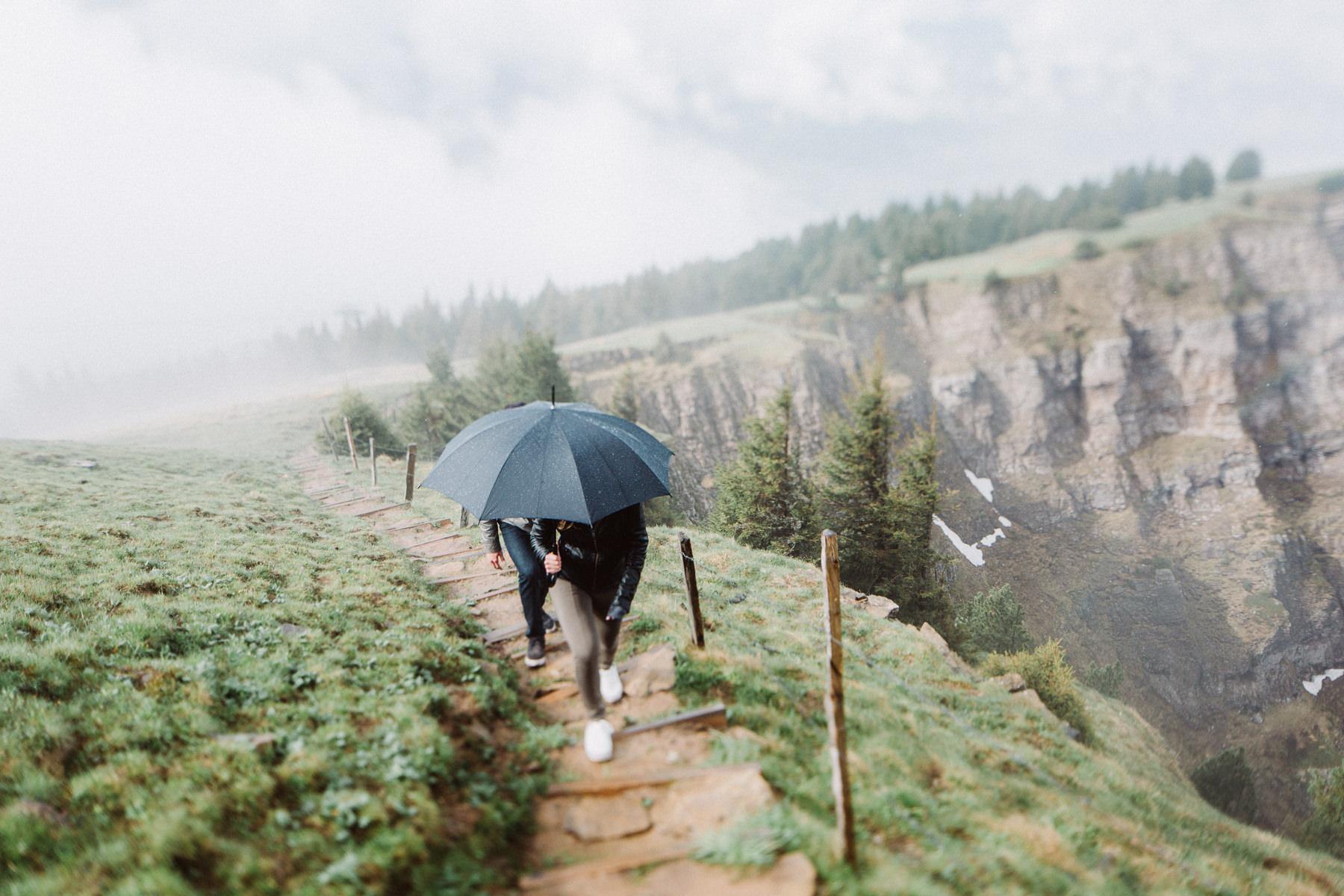 Hochzeitsantrag in den Schweizer Alpen