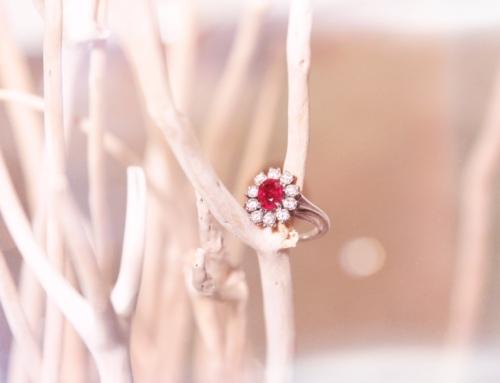 Heiratsantrag mit einem Burma Rubin